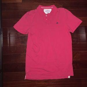 Aeropostale Mem's Pink Collar Shirt
